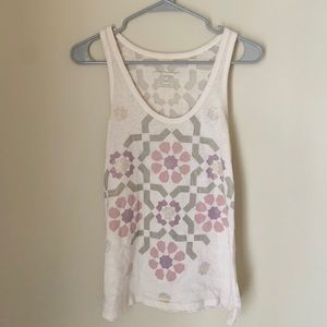 American Eagle Printed Tank with Mesh Back